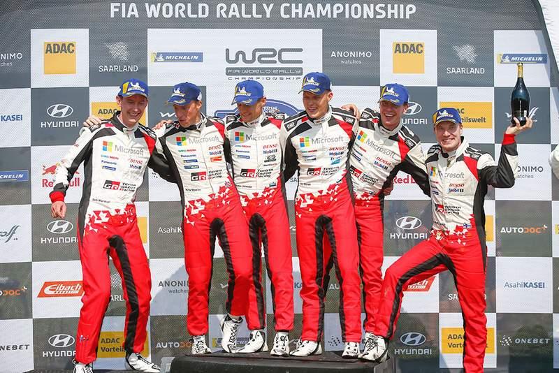 Szenzációs Toyota siker a Német Rallyn